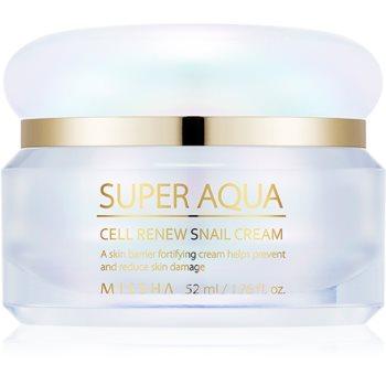 Missha Super Aqua Cell Renew Snail cremă de zi pentru contur și fermitate extract de melc