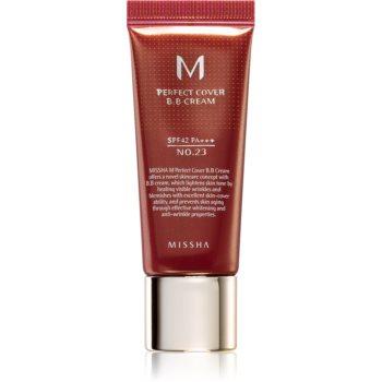 Missha M Perfect Cover crema BB cu protectie ridicata si filtru UV pachet mic poza