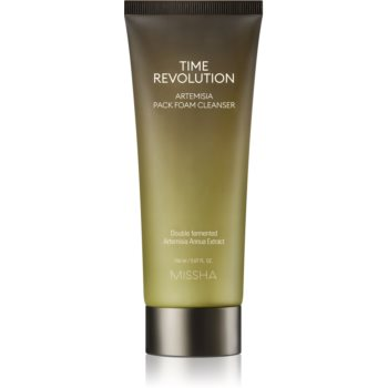Missha Time Revolution Artemisia spuma de curatare 2 in 1 pentru netezirea pielii