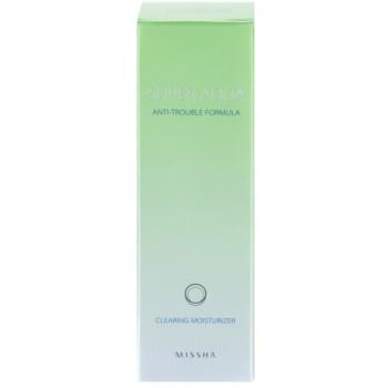 Missha Super Aqua Anti-Trouble Formula emulsão hidratante para pele problemática 1