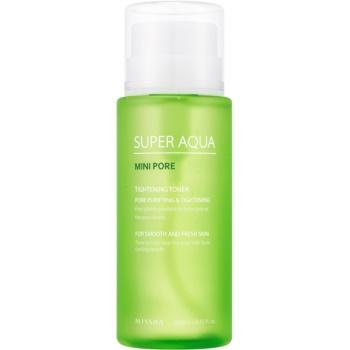 Missha Super Aqua Mini Pore toner piele pentru micsorarea porilor  250 ml