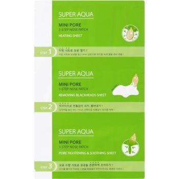 Missha Super Aqua Mini Pore Tratamentul cu trei faze pentru punctele negre
