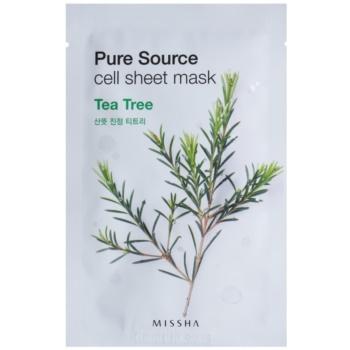 Missha Pure Source maska iz platna s čistilnim in osvežilnim učinkom