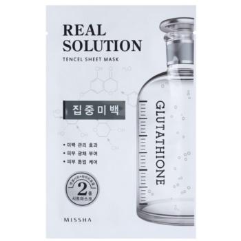 Missha Real Solution masca pentru celule cu efect de albire