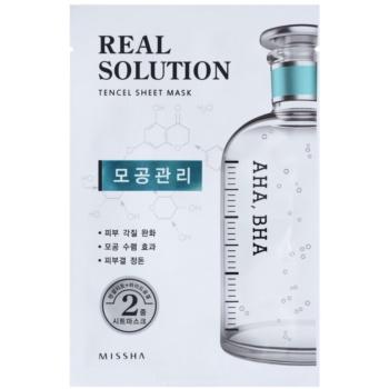 Missha Real Solution plátýnková maska pro zmenšení pórů