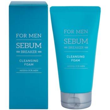 Missha For Men Sebum Breaker почистваща пилинг пяна за мазна кожа 1