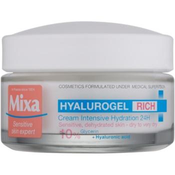 Fotografie MIXA Hyalurogel Rich intenzivně hydratační denní krém s kyselinou hyaluronovou 50 ml