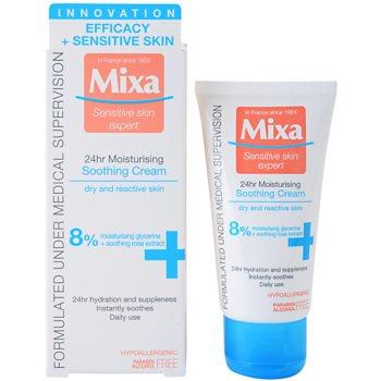 MIXA 24 HR Moisturising hydratační a zklidňující krém pro citlivou a intolerantní pleť 1