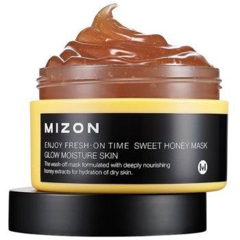 Fotografie Mizon Enjoy Fresh-On Time rozjasňujicí a hydratační maska s medem pro suchou pleť 100 ml