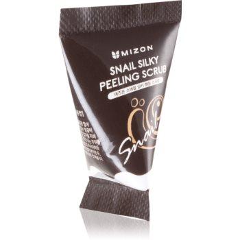 Mizon Snail Silky Peeling Scrub exfoliant facial cu extract de melc