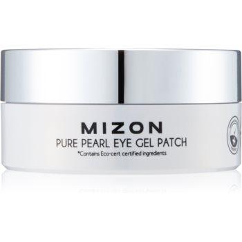 Mizon Pure Pearl Eye Gel Patch masca hidrogel pentru ochi împotriva ridurilor și a cearcănelor întunecate poza noua