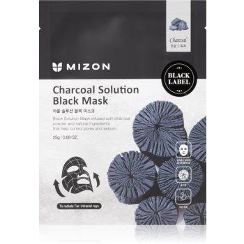 Mizon Charcoal Solution mască textilă purificatoare, cu cărbune activ imagine