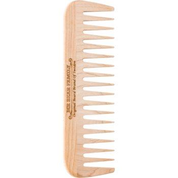 Mr Bear Family Grooming Tools pieptene din lemn pentru barba