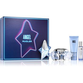 Mugler Angel Angel parfémovaná voda 50 ml + tělový krém 200 ml + sprchový gel 100 ml + sprej na vlasy s parfemací 50 ml