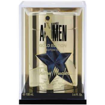 Mugler A*Men Gold Edition Eau de Toilette für Herren  Nachfüllbar Metal Flask