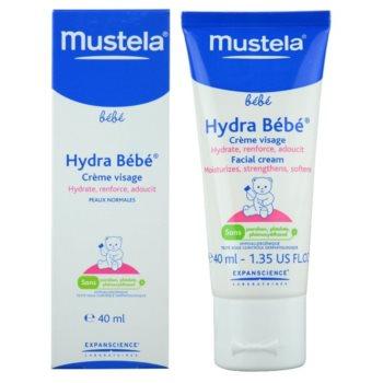 Mustela Bébé Hydra Bébé feuchtigkeitsspendende Gesichtscreme für Kinder ab der Geburt 1