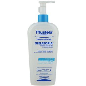 Fotografie Mustela Dermo-Pédiatrie Stelatopia hydratační krém pro velmi suchou citlivou a atopickou pokožku 400 ml