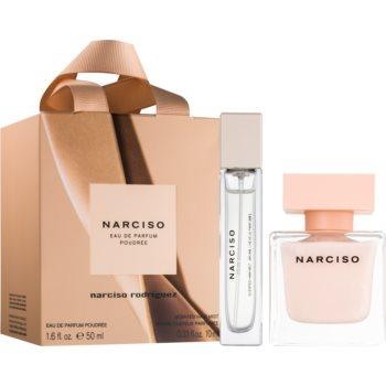 Narciso Rodriguez Narciso Poudrée set cadou I.  Eau de Parfum 50 ml + spray parfumat pentru par 10 ml