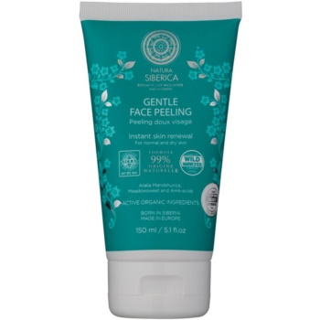 Natura Siberica Natural & Organic crema delicata pentru exfoliere pentru piele normala si uscata