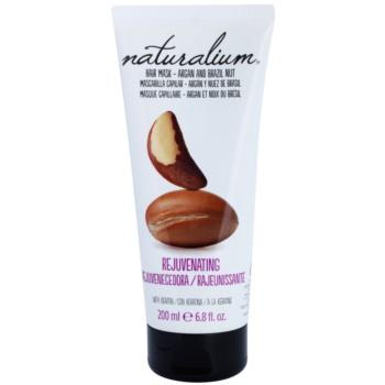 Naturalium Nuts Argan and Brazil Nut Máscara hidratante para o cabelo com queratina