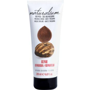 Naturalium Nuts Shea and Macadamia maseczka regenerująca z keratyną