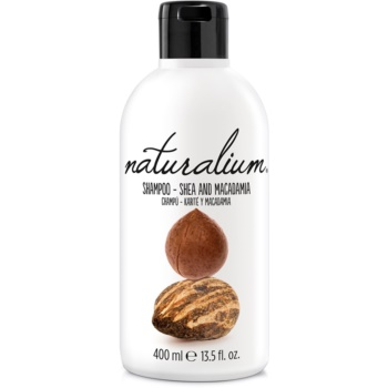 Naturalium Nuts Shea and Macadamia sampon pentru regenerare pentru păr uscat și deteriorat poza noua