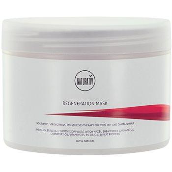 Fotografie Naturativ Hair Care Regeneration maska pro posílení a lesk vlasů 250 ml