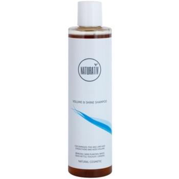 Fotografie Naturativ Hair Care Volume&Shine objemový šampon pro jemné a zplihlé vlasy 250 ml
