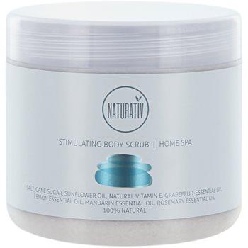 Fotografie Naturativ Body Care Home Spa stimulující tělový peeling se solí a cukrem 500 ml