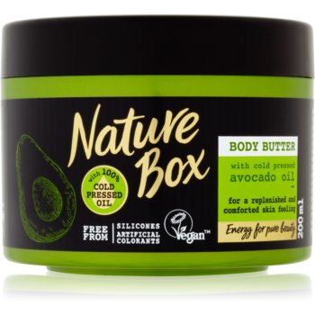 Nature Box Avocado unt pentru corp, hranitor