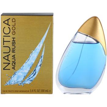 Nautica Aqua Rush Gold Eau de Toilette pentru barbati
