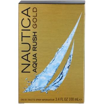 Nautica Aqua Rush Gold Eau de Toilette pentru barbati 4