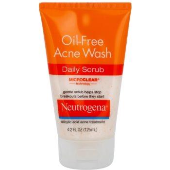 Neutrogena Oil-Free Acne Wash peeling oczyszczający  przeciw wypryskom