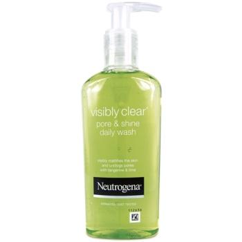 Neutrogena Visibly Clear Pore & Shine čisticí gel proti lesknutí pleti a rozšířeným pórům 200 ml