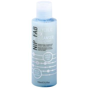 NIP+FAB Skin Glycolic Fix emulsie sub formă de spumă pentru curățare profundă a pielii și îndepărtarea machiaj