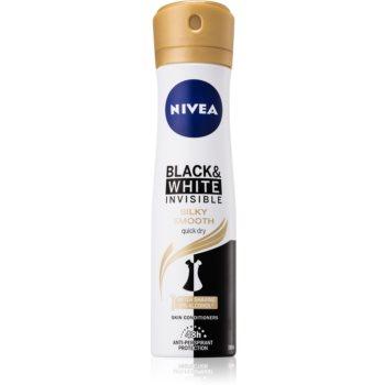 Nivea Invisible Black & White Silky Smooth spray anti-perspirant fara alcool