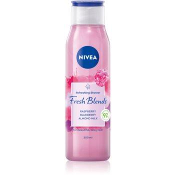 Nivea Fresh Blends Raspberry & Blueberry & Almond Milk erfrischendes Duschgel 300 ml