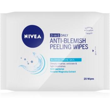 Nivea Visage Pure Effect servetele pentru curatare profunda peeling 3 in 1