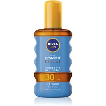 Nivea Sun Protect & Bronze ulei de bronzat pentru piele uscata SPF 30 poza