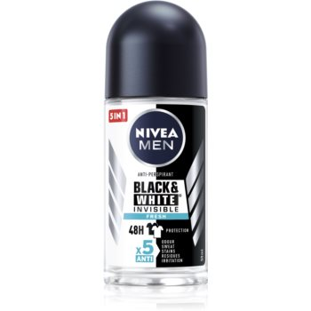 Nivea Men Invisible Black & White deodorant roll-on antiperspirant pentru barbati imagine produs