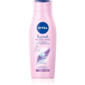 Nivea Hairmilk Natural Shine ?ampon îngrijire pentru par obosit fara stralucire poza