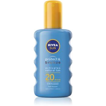 Nivea Sun Protect & Bronze spray de corp pentru un bronz intens SPF 20 poza