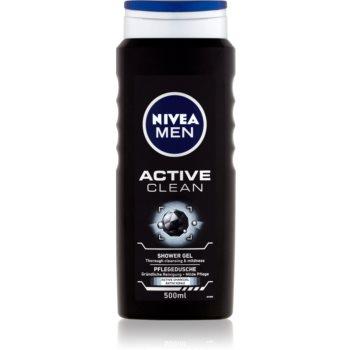 Nivea Men Active Clean gel de dus pentru fa?ã, corp ?i pãr pentru barbati poza