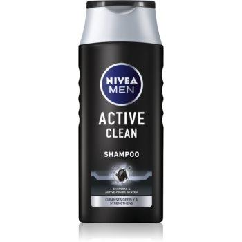Nivea Men Active Clean ?ampon cu ingrediente active de cãrbune imagine produs