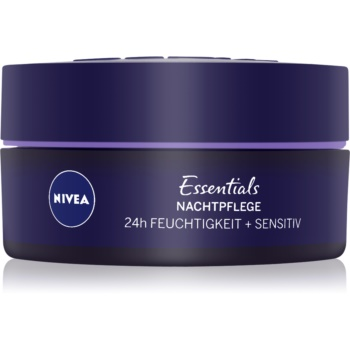 nivea essentials crema de noapte cu efect calmant pentru piele sensibila