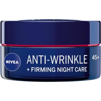 Nivea Anti-Wrinkle Firming Cremă de noapte intensă pentru riduri 45+ poza noua