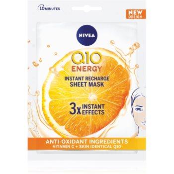 Nivea Q10 Energy mască textilă cu efect antirid