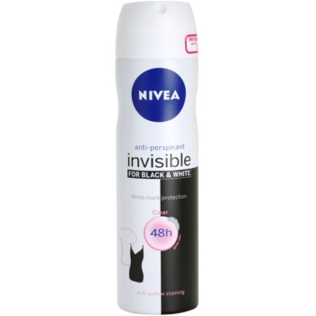 Nivea Invisible Black & White Clear antiperspirant Spray imagine produs