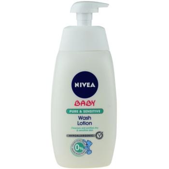 Nivea Baby Pure & Sensitive mycí gel na obličej, tělo a vlasy 500 ml