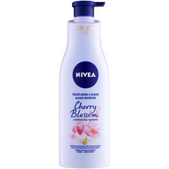 Nivea Cherry Blossom & Jojoba Oil lotiune de corp cu ulei
